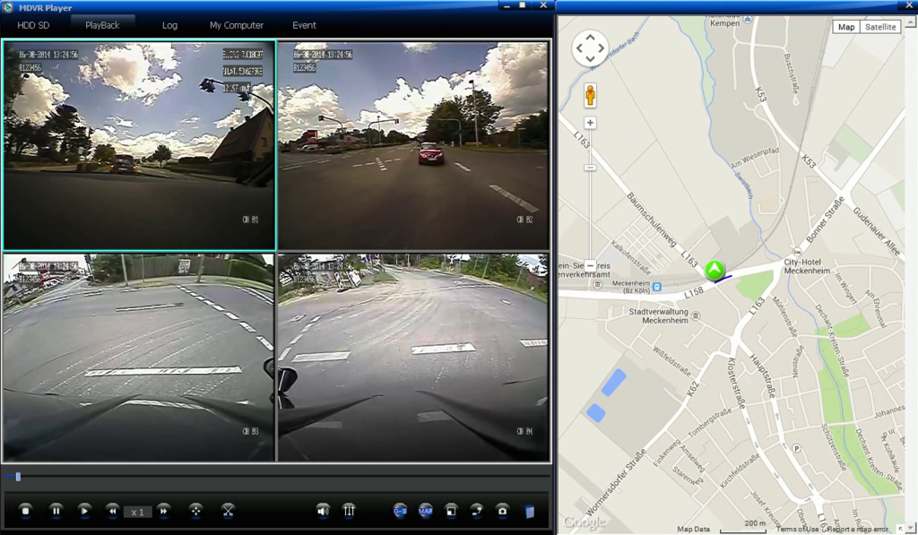 Screenshot ariston-DVR Software