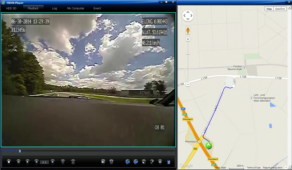 Screenshot ariston-DVR Software